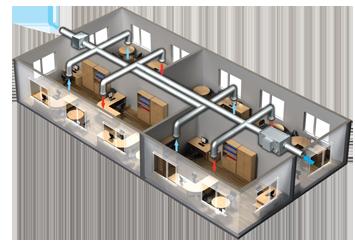 Проектирование и монтаж вентиляции в офисе