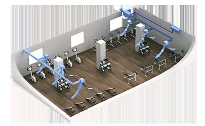 Проектирование и монтаж вентиляции спортзала